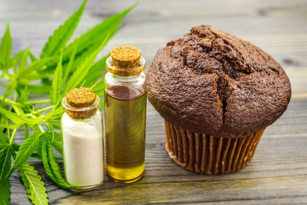 CBD oil and muffin edible